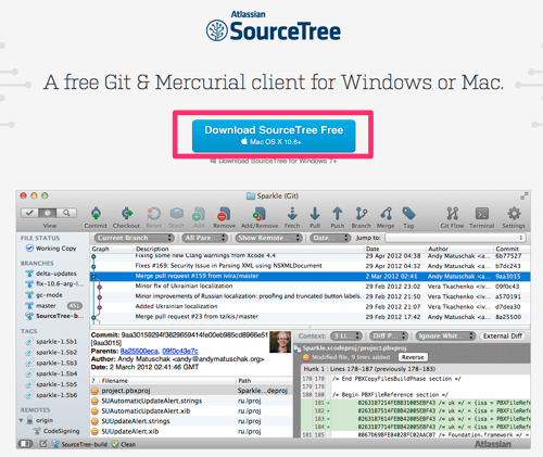 Free Mercurial and Git Client for Windows and Mac   Atlassian SourceTree