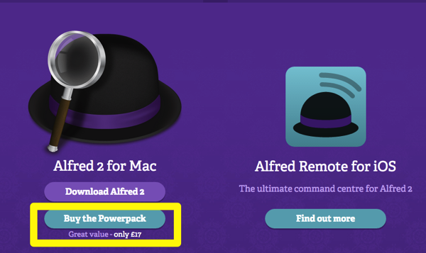 Alfred App Productivity App for Mac OS X