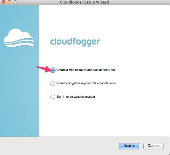 Cloudfogger Setup Wizard と mac cloudfogger エラー Google 検索