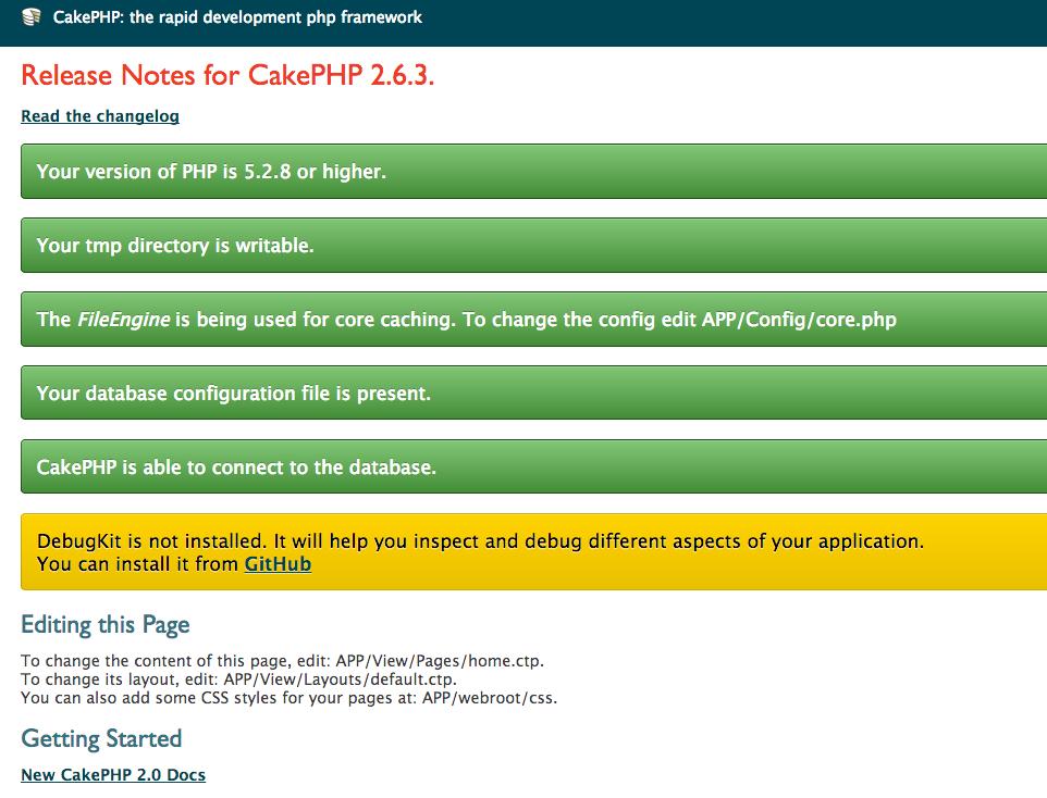 CakePHP the rapid development php framework Home